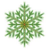 Decorative snowflake. Vector illustration. — Stockvektor