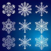 Snowflakes. Vector illustration. Seamless. — Stock Vector