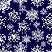 Sněhové vločky. vektorové ilustrace. bezešvé. — Stock vektor