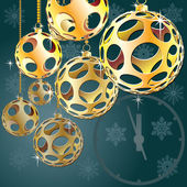 Balls for a decoration. Christmas. Vector. — Stock Vector