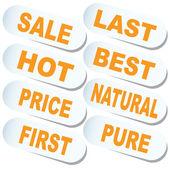 Sticker. Sale. — Stock Vector