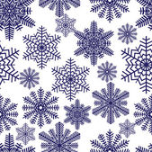 Snowflakes. Vector illustration. Seamless. — Stock Vector