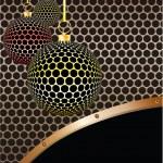 Christmas balls. Vector illustration. — Stock Vector