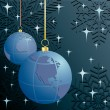 Christmas. Earth. Vector illustration. — 图库矢量图片 #8591220