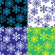 Cтоковый вектор: Snowflakes. Vector illustration. Seamless