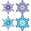 Snowflakes. Vector illustration. - Stock Vector