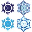 Snowflakes. Vector illustration. — Vettoriale Stock #8591289