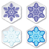 Snowflakes. Vector illustration. — Stock Vector