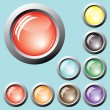 Varicolored buttons. Vector. — Stock Vector