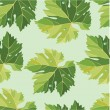 Background from vine leaves. Seamless pattern. Vector. — Stock Vector