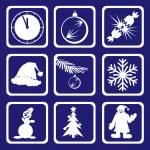 Snowman. Vector. — Stock Vector