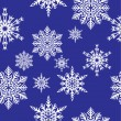 Stok Vektör: Snowflakes. Vector illustration. Seamless