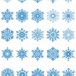 Stok Vektör: Snowflakes. Vector illustration.