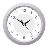 Wall clock. Vector illustration. — Vector de stock