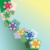 Elemento del diseño floral. ilustración vectorial. — Vector de stock