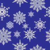 Snowflakes. Vector illustration. Seamless — Stock Vector