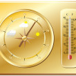 Barometer for determination of weather. — Stock Vector