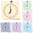 Sticker. Clock — Stock Vector