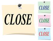 Sticker. Close — Stock Vector
