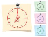 Sticker. Clock — Stock Vector