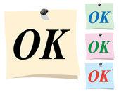 Nálepka. ok — Stock vektor