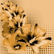 Decorative flower background. Vector illustration. - Imagen vectorial