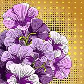 Decorative flower background. Vector illustration. — Stock Vector