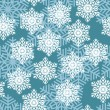 Snowflakes. Vector illustration. Seamless. — Vettoriali Stock