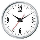 Reloj de pared. ilustración vectorial. — Vector de stock
