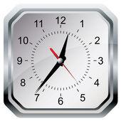 Nástěnné hodiny. vektorové ilustrace. — Stock vektor