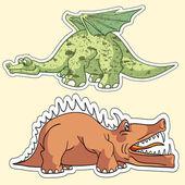 Brontosaurus. Vector illustration. — Cтоковый вектор