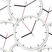 墙上的时钟。矢量插图。无缝. — 图库矢量图片