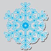 Kar taneleri. vektör çizim. — Stok Vektör