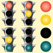 Traffic lights. Vector illustration. — Stock Vector