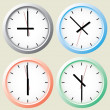 Wall clock. Vector illustration. — Stock Vector