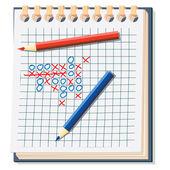 Notebook. Vector illustration. — Stock Vector