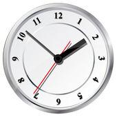 Wall clock. Vector illustration. — Stock Vector