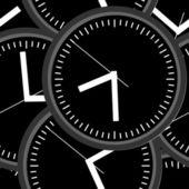 De klok van de muur. vectorillustratie. naadloze. — Stockvector