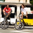Pedicabs in rest — Stock Photo
