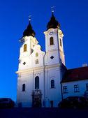 The abbey of Tihany by night — Stock Photo