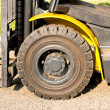 Front axle of forklift — Stock Photo #10077883