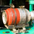Стоковое фото: Gas bottle on forklift truck