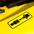 Pictogram of safety belt on a forklift — ストック写真