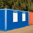 Stock Photo: Red and blue container