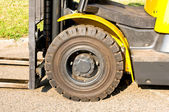 Front axle of a forklift — Stock Photo