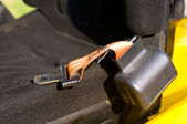 Safety belt of a forklift — Stock Photo