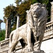 Stock Photo: Lion figure at root of BudCastle in Budapest