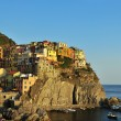 Manarola - Cinqueterre - at sunset — Stok fotoğraf