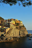 Manarola - Cinqueterre - at sunset — Stock Photo