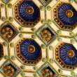 Wonderful ceiling of 'Varkert' bazaar in Budapest — Stock Photo #10122949